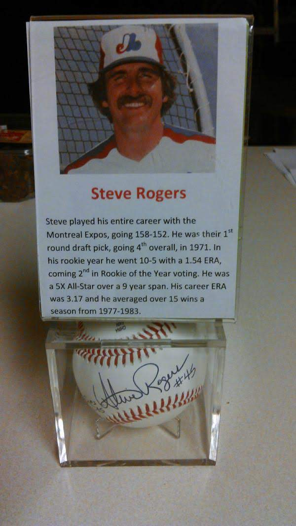 Steve Rogers signed baseball