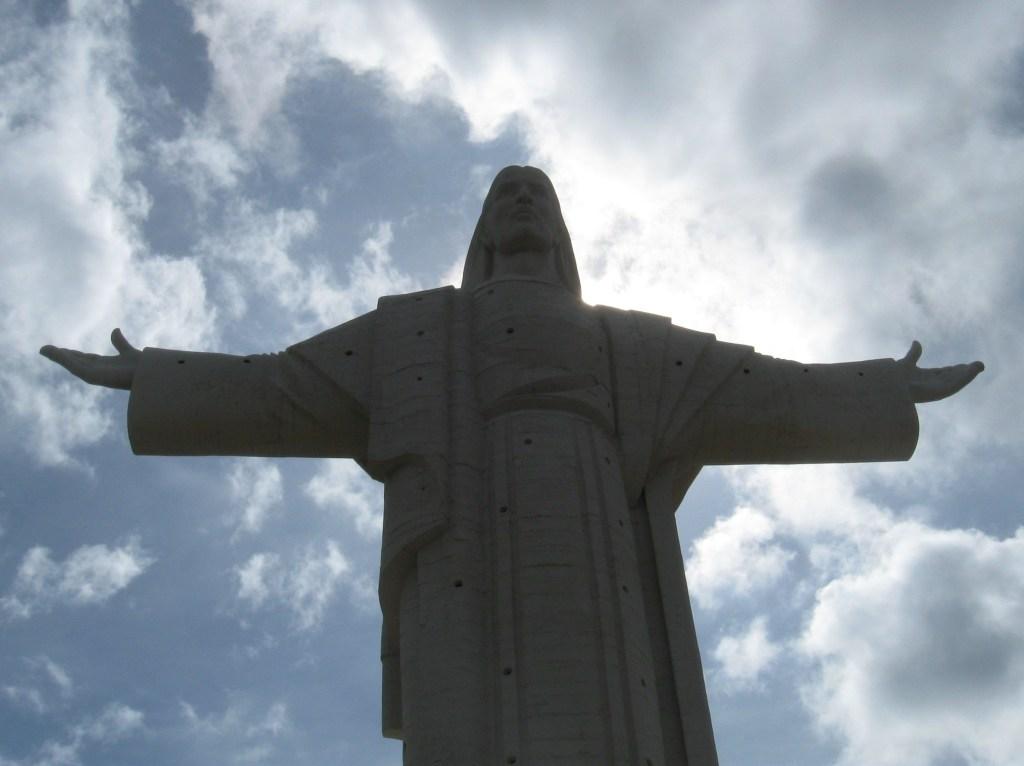 The statue of El Cristo de la Concordia in Cochobamba, Bolivia