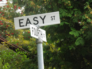 Street sign for Easy Street