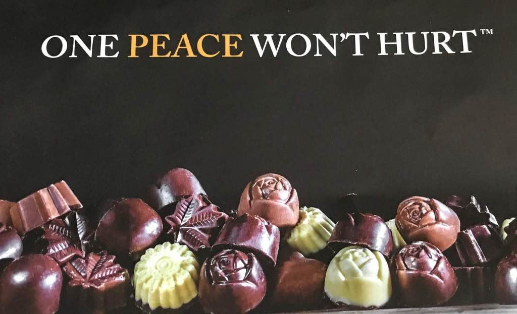 Peace by Chocolate advertisement
